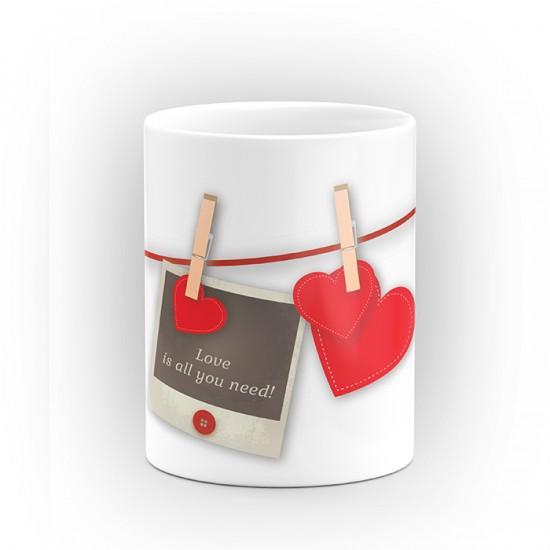 """Чаша """"Love is all you need!"""" - подарък за Свети Валентин"""