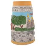 Сувенирна чаша от порцелан с релефни забележителности от град Варна