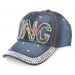 Спортна лятна шапка с надпис KING