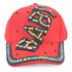 Спортна лятна шапка с козирка, декорирана с надпис BABY и цветни камъни
